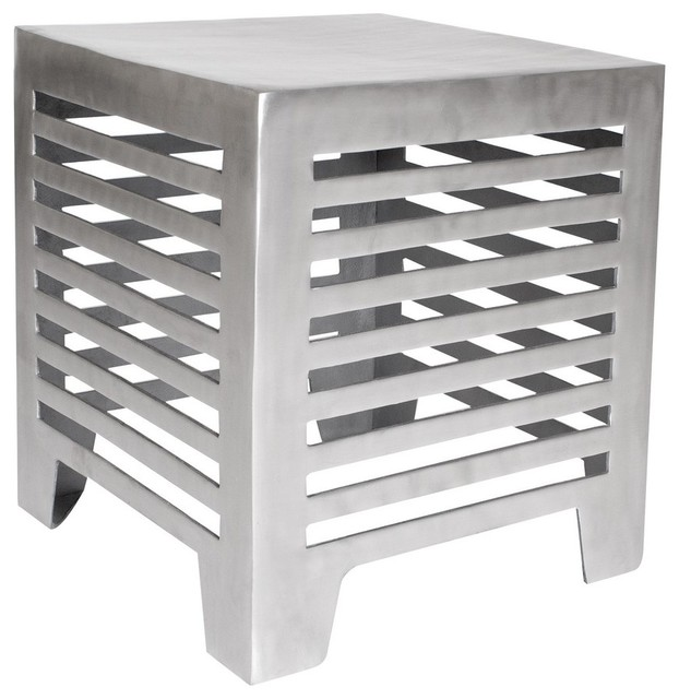 Allan Copley Designs Jersey 18 Inch Square End Table in Matte Cast Aluminum modern-side-tables-and-end-tables