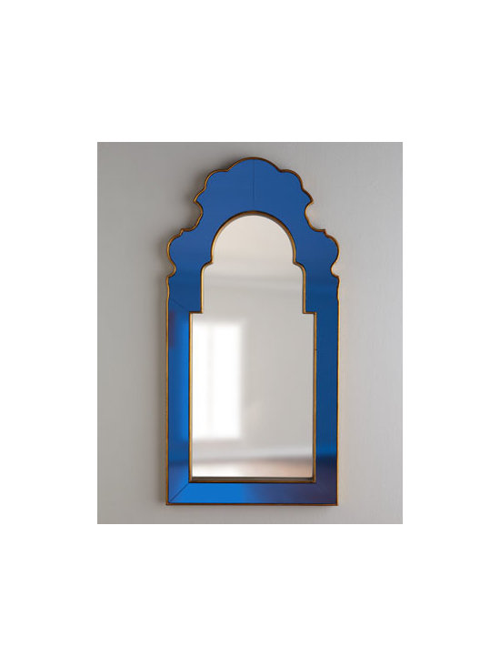 Horchow - 'Sapphire' Mirror - Woah. Glossy cobalt blue gets a slick brass trim in this phenomenal mirror. It's not for the faint of heart, but boy, does it make a stunning statement.
