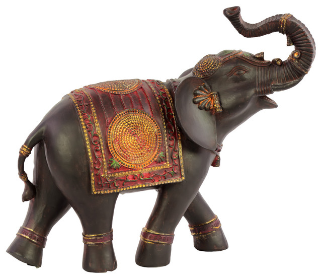Resin Indian Elephant Figurine Asian Decorative Objects And Figurines By Urban Trends