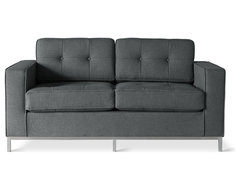 Gus Modern Jane Loveseat Sofa, Urban Tweed Ink modern-sofas