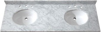 """Avanity SUT61CW Granite Stone 61"""" Double Vanity Top in Carrera White traditional-vanity-tops-and-side-splashes"""