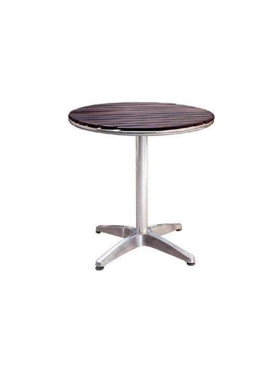 Wooden Patio Table - Wood slated patio table with an epoxy surface for extra shine and strength.