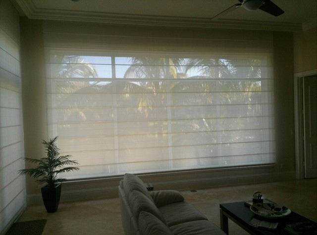 Motorized Roman Shades Contemporary Roman Blinds Miami By Comfort Shades