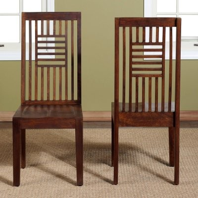 Palindrome Slat Back Chair - Chestnut - Set of 2 modern-dining-chairs