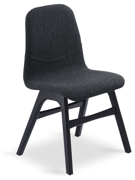 Bryght - Ava Liquorice Fabric Ebony Dining Chair - Bring the mid century modern look and feel right into your home. The Ava dining chair is bound to add a refreshing touch to your decor and appeal to the modern aesthetic.