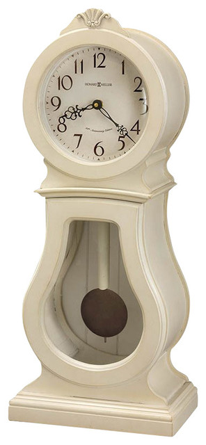 Howard Miller Audrey 84th Anniversary Edition Mantel Clock in Coconut transitional-desk-and-mantel-clocks