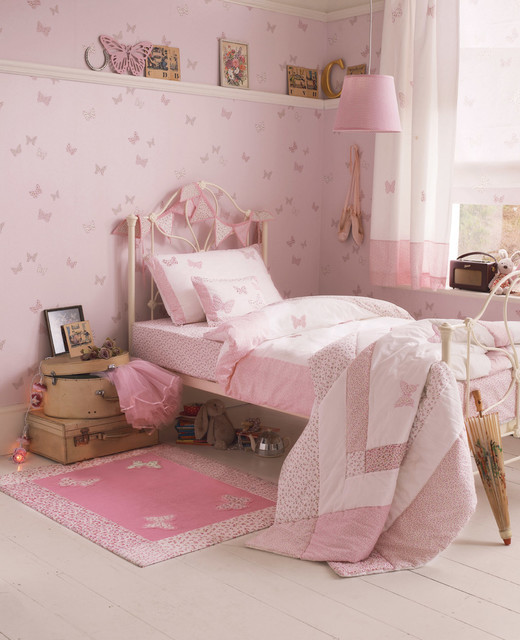 Laura Ashley Bella Butterfly Wallpaper - Eclectic - Kids ...