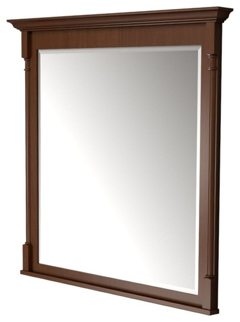 ... Framed Wall Mirror in Autumn Blush Stain contemporary-bathroom-mirrors