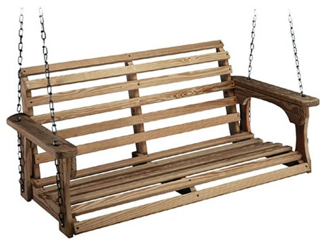 beecham swing co roll back treated wood porch swing