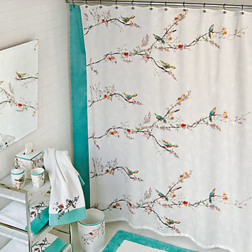 Extra Wide Curtain Rods Lenox Moonlit Garden Showe