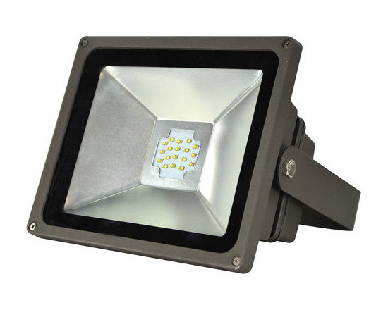MaxLite - MLFL50LED50 MaxLite LED MaxLED Flood Light, 50 Watts Bronze - The LED Small Flood Lights are efficient, energy saving replacements for metal halide and quartz halogen fixtures. The fixtures can mount at a broad range of angles with a yoke-style arm.