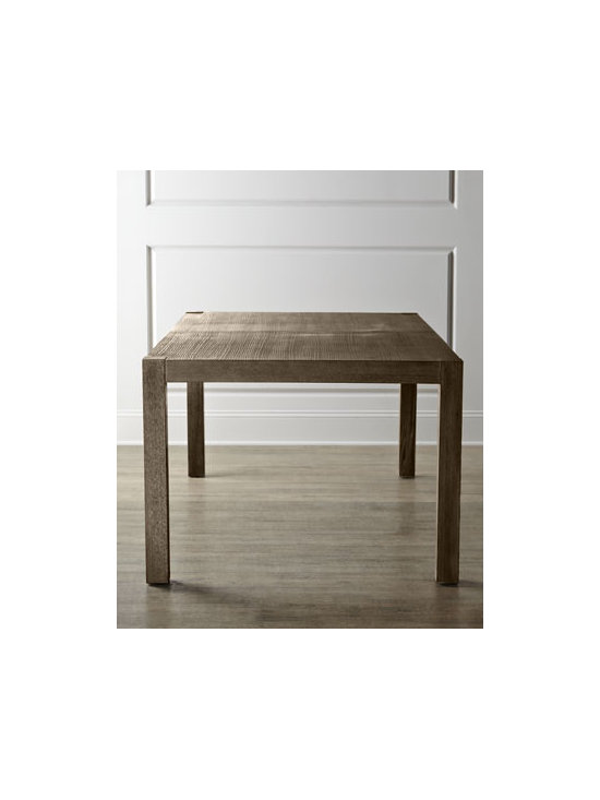 Horchow - Karington Ash Dining Table with Two Leaves - Imagine the possibilities—a Parson's style dining table that mixes and matches with other pieces for classic dining. Elegant enough for formal gatherings and durable enough for every day. Two leaves add to its versatility. Handcrafted of ash solid...