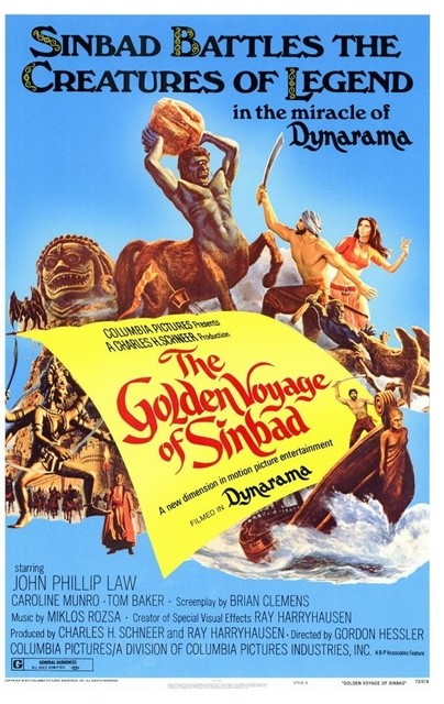 The Golden Voyage Of Sinbad 11 x 17 Movie Poster - Style A prints-and-posters
