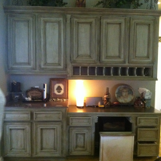 kitchen faux painted cabinets traditional houston by