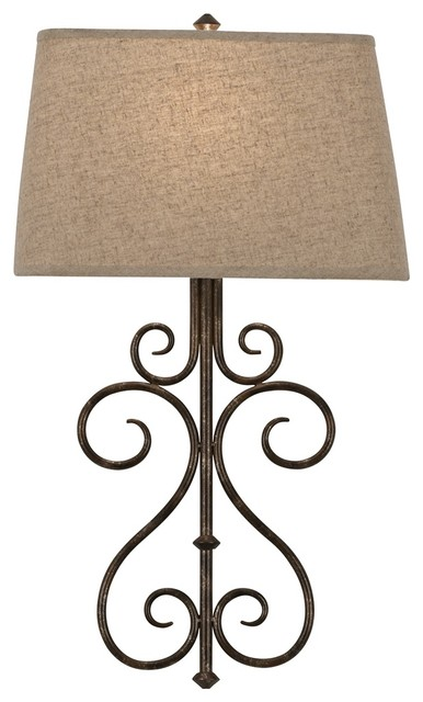 Metal Scroll Wall Sconces : Country - Cottage Metal Scroll 25