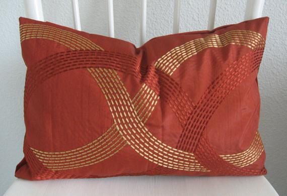 Embroidered Lumbar Pillow - Decorat contemporary-decorative-pillows