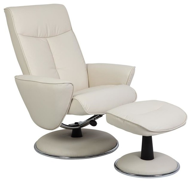 Mac Motion Chairs Snow White Bonded Leather Swivel ...