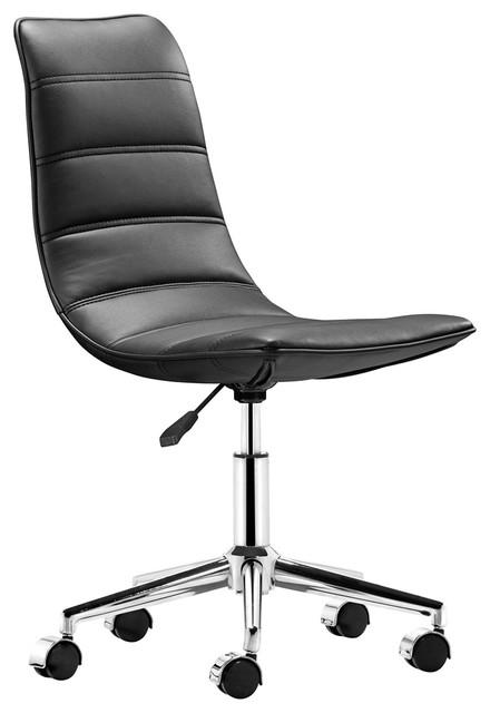 Modern Armless Office Chair Zuo Modern Lider Plus
