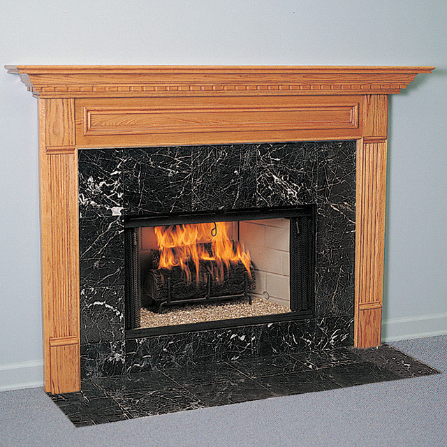 Crestwood Wood Fireplace Mantel Traditional Indoor
