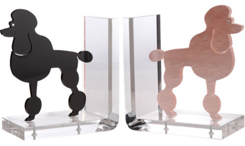 Spisani Poodle Bookends modern-bookends
