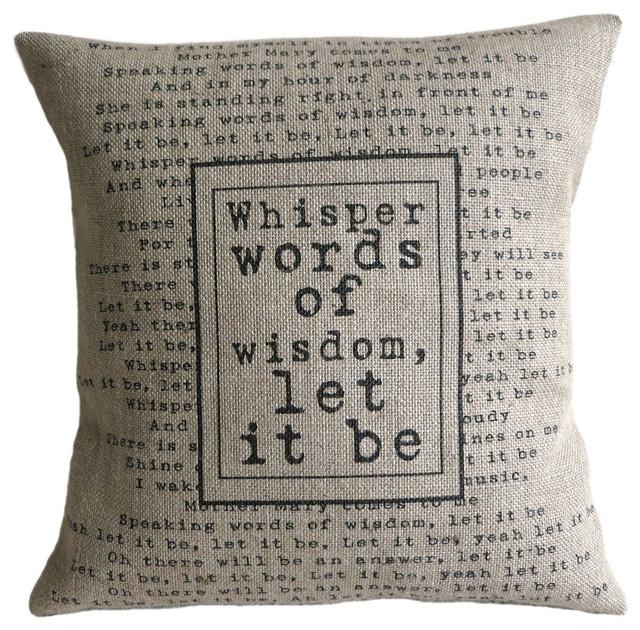 The Beatles Quote Burlap Pillow Contemporary