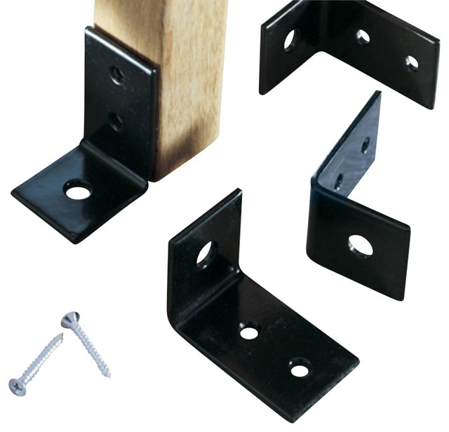 Powder Coated Bench Anchors (Includes 4) modern-brackets