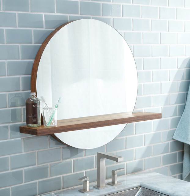 Unique Burlington Rectangular Mirror With Shelf Traditional Bathroom Mirror