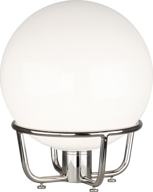 Rico Espinet Buster Globe Table Lamp, Nickel/White contemporary-table-lamps
