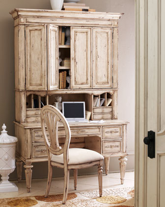 Antique-White Hutch - Traditional - Buffets And Sideboards - by Horchow