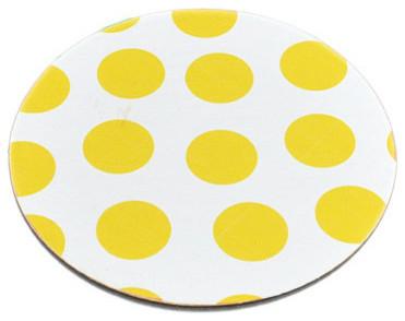 Polka Dot Pattern Wood Coasters by Party Mojo contemporary-wine-and-bar-tools