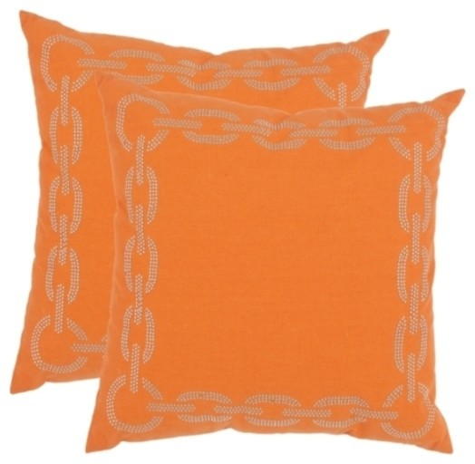 22x22 Decorative Pillows : Sibine Accent Pillow - 22x22 - Orange - Contemporary - Decorative Pillows - by zopalo