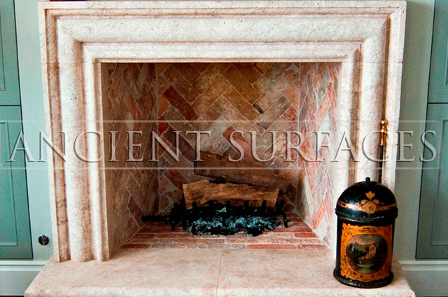 Bolection Stone Fireplaces Traditional Indoor