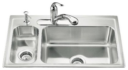 Toccata High and Low Self Rimming Kitchen Sink - All Options modern-bath-products