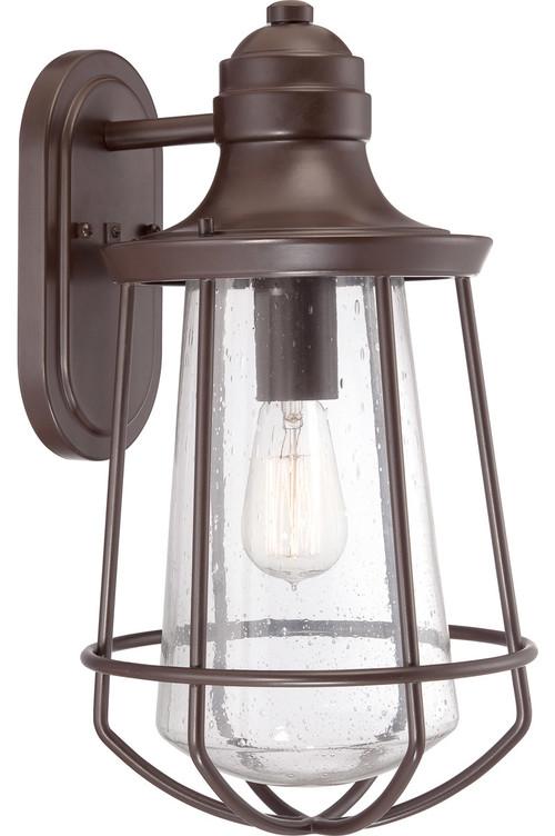 quoizel mre8409wt marine 1 light outdoor wall lights in western bronze. Black Bedroom Furniture Sets. Home Design Ideas