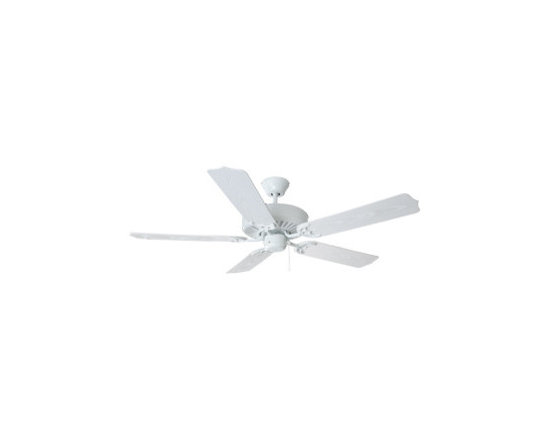 DHI-Corp - Mesa 52-inch 5-Blade Ceiling Fan, White Blades, White - The Design House 154096 Mesa 52-Inch 5-Blade Ceiling Fan features a white finish and is ideal for both indoor and outdoor use. Use the intuitive pull chain to control your 3-speed motor and toggle between three different speed settings. The (5) fan blades have a white finish. Choose between close-up, 4-inch downrod or vaulted mount for angled ceilings. Run the motor in reverse to help conserve energy costs during all seasons. Blades can be run on the normal setting during the summer to create cooling air flow and on reverse in the winter to re-circulate warm air from the ceiling. This fan is UL listed, rated for 120-volts and is approved for damp areas. Adaptable light kit is not included. Measuring 52-inches, this fixture adds a dramatic accent to any home or condominium. The Design House 154096 Mesa 52-Inch 5-Blade Ceiling Fan comes with a 10-year limited warranty that protects against defects in materials and workmanship. Design House offers products in multiple home decor Categories including lighting, ceiling fans, hardware and plumbing products. With years of hands-on experience, Design House understands every aspect of the home decor industry, and devotes itself to providing quality products across the home decor spectrum. Providing value to their customers, Design House uses industry leading merchandising solutions and innovative programs. Design House is committed to providing high quality products for your home improvement projects.