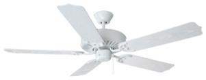 Mesa 52-inch 5-Blade Ceiling Fan, White Blades, White modern-ceiling-fans