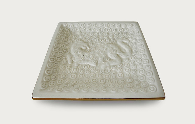 Waylande Gregory Etched Leopard Medium Square Tray serving-dishes-and-platters