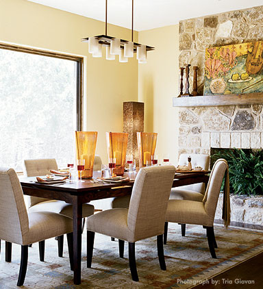 laura britt design eclectic dining room