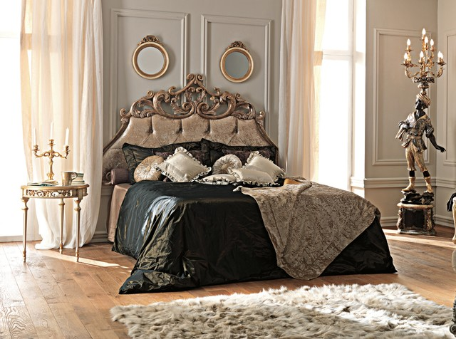 Paris Collection French Rococo Velvet Bed Rustic Bedroom London By Juliettes Interiors Ltd
