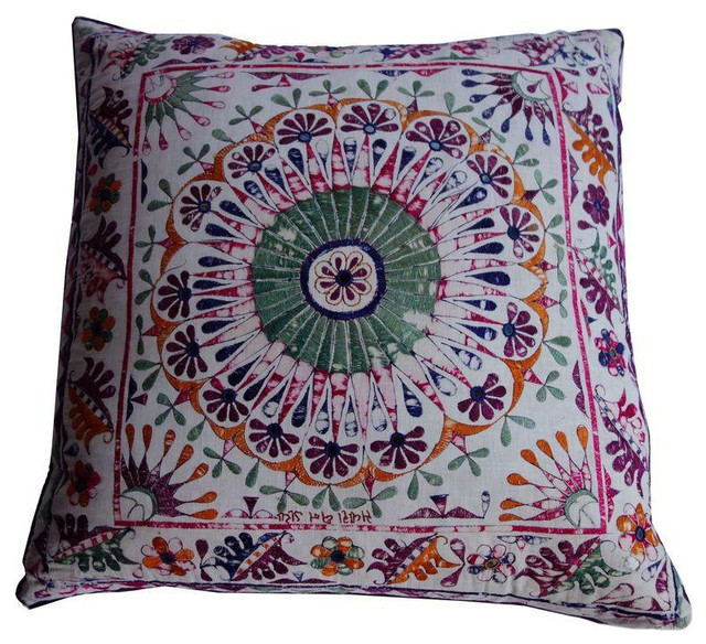 Decorative Pillows Retail : Large Ikat and Medallion Print Double Sided Pillow - $950 Est. Retail - $475 on