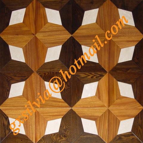 Stone and wooden Parquet midcentury-hardwood-flooring