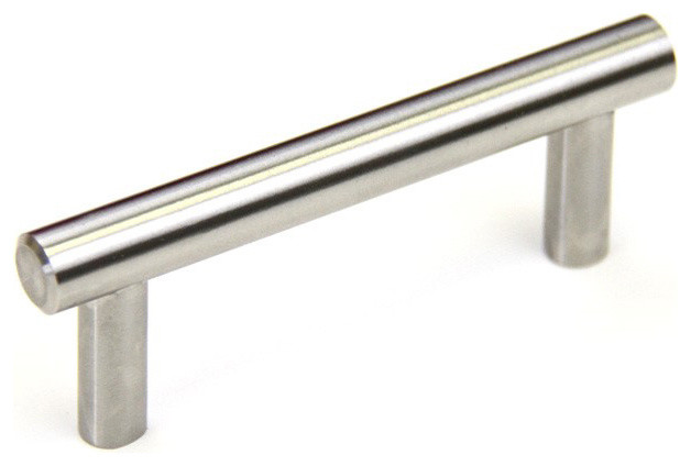 solid stainless steel 4 inch cabinet bar pull handles