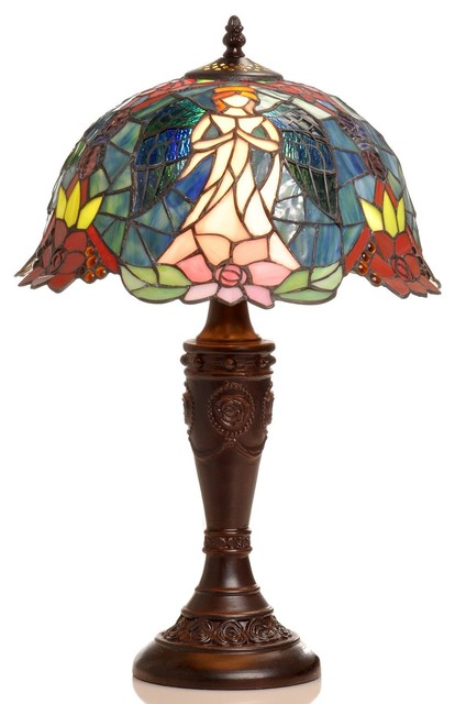 Tiffany Style Angel Table Lamp Traditional Table Lamps