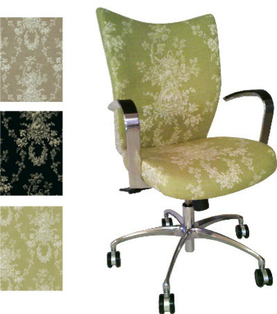 Task Chair Upholstered in Toile