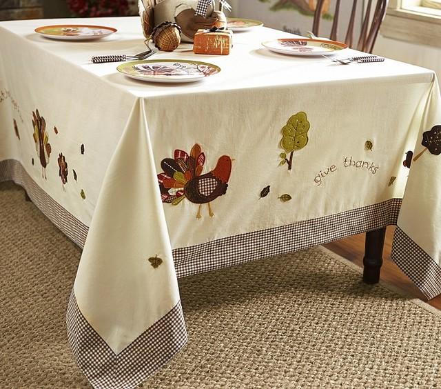 Thanksgiving Tablecloth - Contemporary
