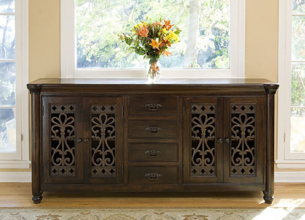 Augustine 4 Drawer 4 Door Buffet mediterranean buffets and sideboards