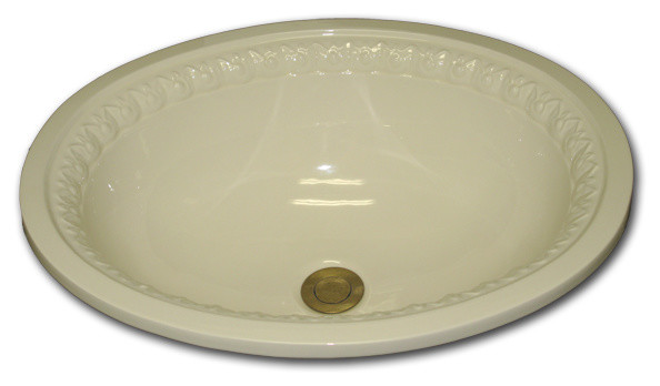 BE Oval with Romanesque on Chamfer traditional-bathroom-sinks