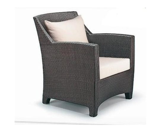 Outdoor Furniture - High-class, sophisticated styling meets all-weather durability with this Klark Patio Arm Chair.
