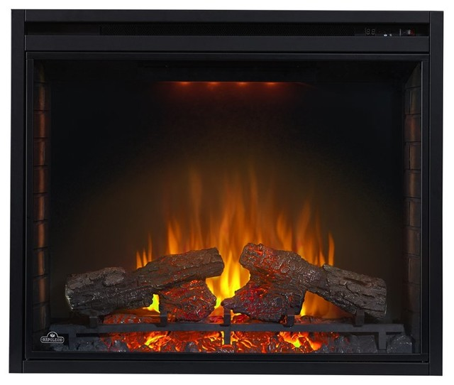 Napoleon 33 In Built In Electric Firebox Insert Multicolor Bef33h Contemporary Indoor