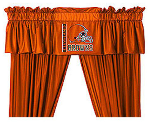 Nfl Cleveland Browns 5 Piece Long Curtain Drapes Valance